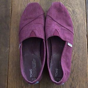 Toms Burgundy shoes